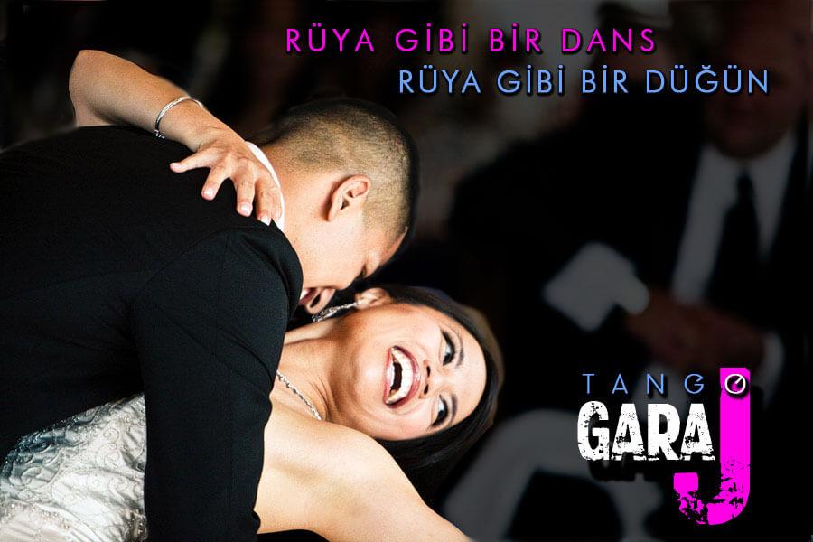 Düğün Dansı. En iyi Tango Kursu Tango Garaj ile.